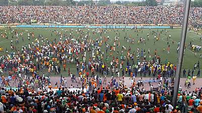 DR Congo league club sanctioned, relegated for fan violence