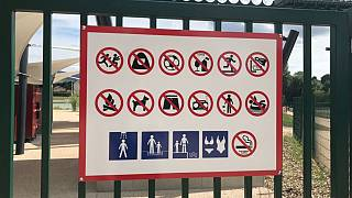 No dogs, no alcohol, no veiled women