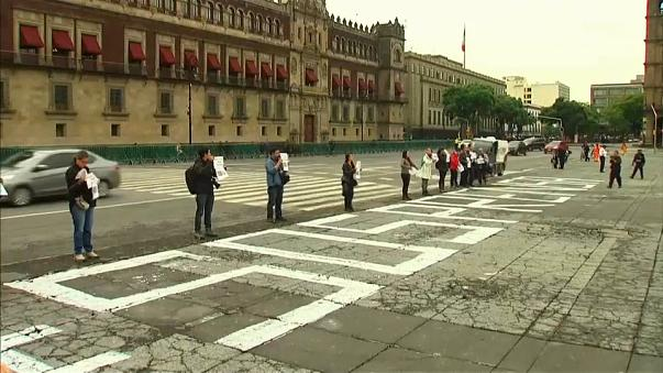 Mexican journalists protest murdered colleagues