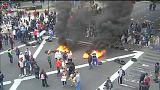 Разгон протестов в Буэнос-Айресе