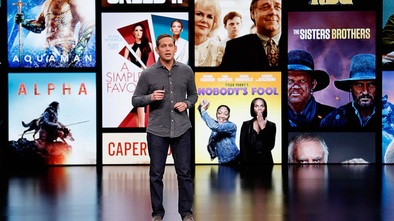 Image: Peter Stern, VP Services for Apple, speaks during an Apple special e