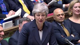 Image: Britain's Prime Minister Theresa May answers questions in the Parlia