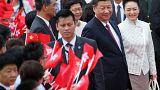 Xi Jinping em visita contestada a Hong Kong