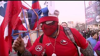 Чилийцы празднуют победу над Португалией