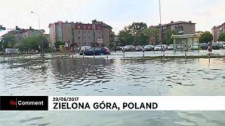 Zielona Góra es víctima de las inundaciones en Polonia