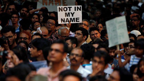 Inder demonstrieren gegen Lynchmord