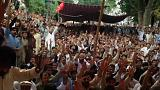 باكستان :آلاف الشيعة يحتجون بسبب التفجيرات التي خلفت 75 قتيلا