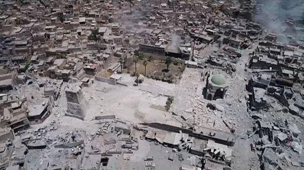 Watch: Drone captures ruins of landmark Mosul mosque