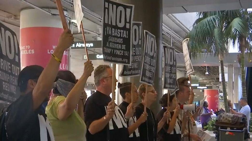 Manifestations à Los Angeles contre le décret anti-migratoire de Trump