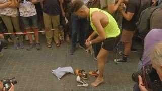 Topuklu Ayakkabı Yarışı Madrid sokaklarını doldurdu