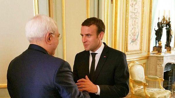 دیدار وزیر خارجه ایران با رئیس جمهوری فرانسه