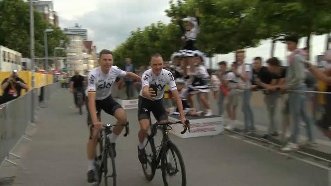 """Фрум, Кинтана и Контадор на старте """"Тур де Франс"""""""