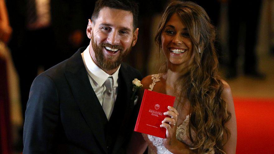 """Leo Messi y Antonella Roccuzzo se dan el """"sí, quiero"""" en Rosario"""