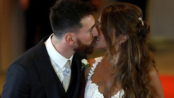 جشن ازدواج مسی با حضور ستارگان فوتبال