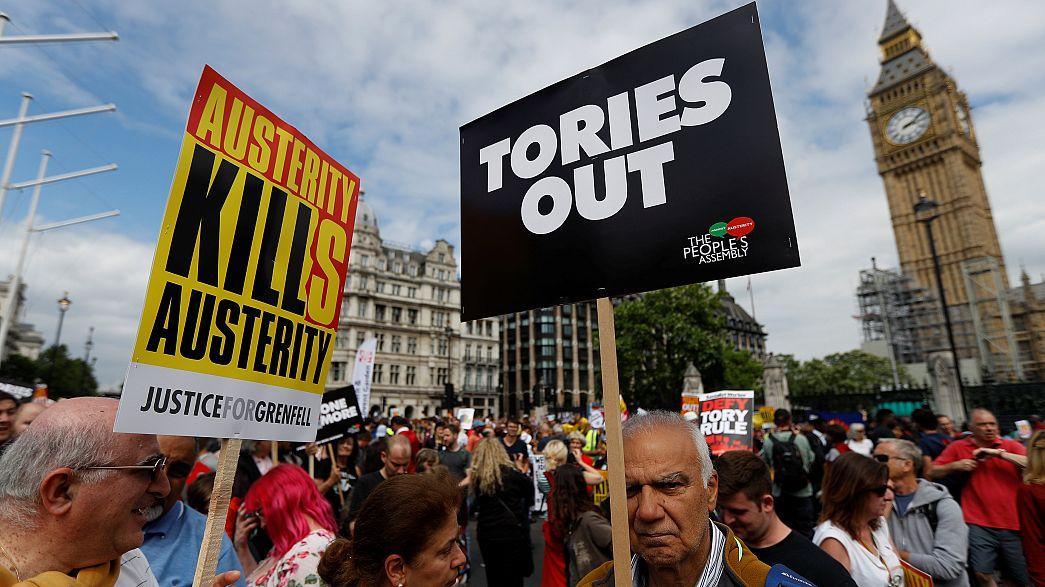 مظاهرات في بريطانيا ضدّ حكومة تيريزا ماي