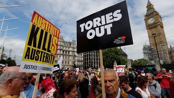 London: Kundgebung gegen britische Sparpolitik