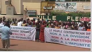 Central Africans took to the streets of Bangui to protest the deadly violence in country