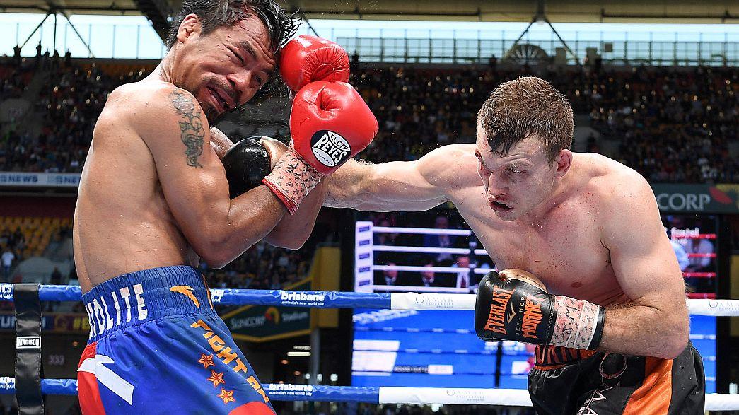 """Surprise en boxe : la """"montagne"""" Pacquiao battue"""