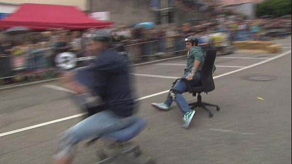 Forget Formula One - Watch the 'World Championship Office Chair Race'