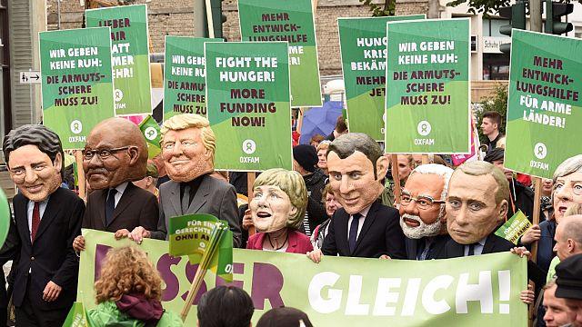 Hamburg'da G20 protestosu