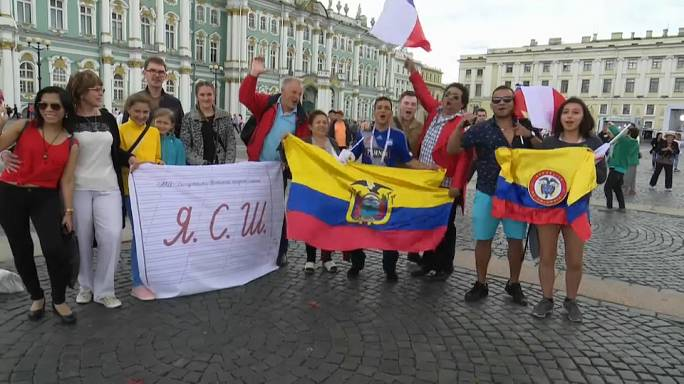 Санкт-Петербург встречает болельщиков