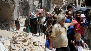 Мирные жители бегут из Мосула