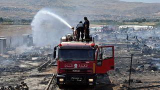 Feuer zerstört Flüchtlingslager