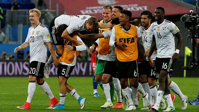 Alemania campeona de la Copa Confederaciones de fútbol tras ganar a Chile por 1-0