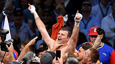 Jeff Horn lifts WBO belt after beating Pacquiao