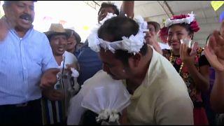 Mexikaner heiratet Krokodil