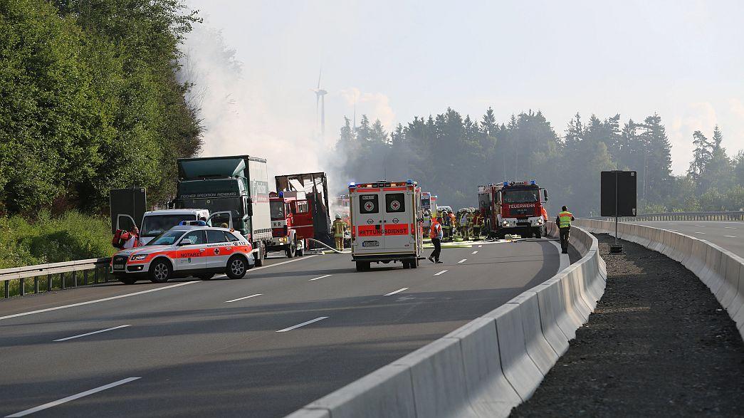 Súlyos buszbaleset történt Bajorországban