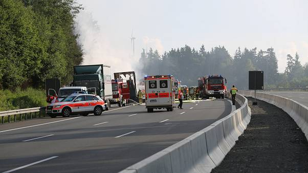 Busunglück in Oberfranken: 18 Tote bestätigt