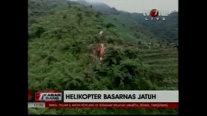 Mentőhelikopter zuhant le Indonéziában