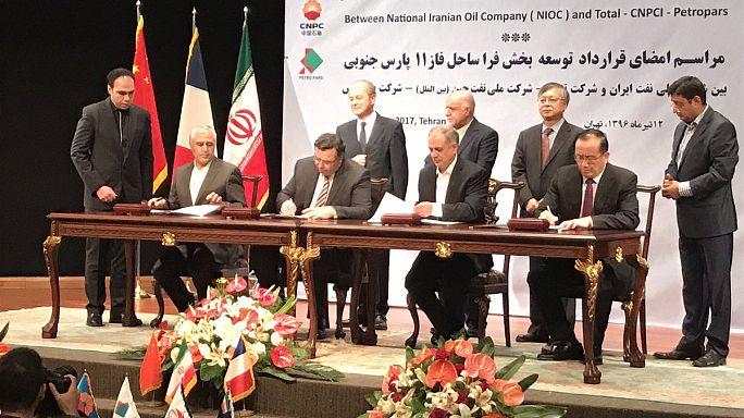 Irán firma con Total el primer gran contrato tras el levantamiento de las sanciones