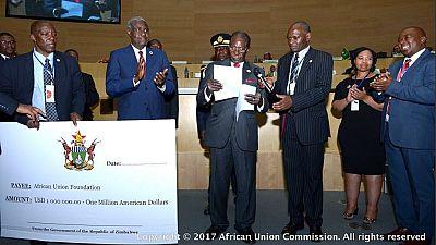 Mugabe donates $1m to help finance A.U. after Zimbabwe cattle sale
