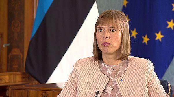 "Kersti Kaljulaid : La politique de Trump, ""c'est du solide"""