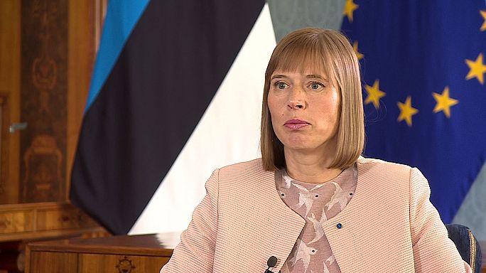 Kersti Kaljulaid: Trump steht felsenfest zur Nato