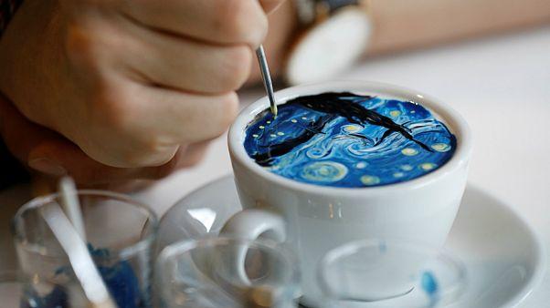 یک فنجان نقاشی، اثر باریستای کره ای