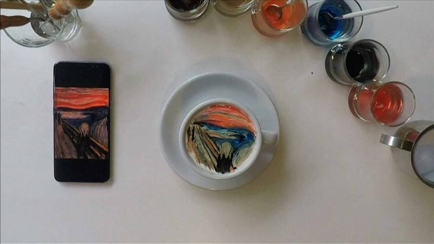 The Scream on cream: South Korean coffee artist wows latte lovers with his creations