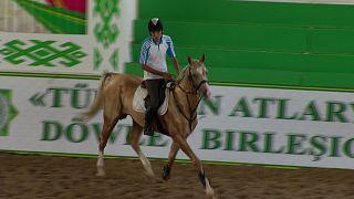 """تركمنستان، مهد """"الأكحل-تيكي""""، فخر الخيول العالمية"""