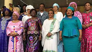 [Photos] African first ladies meet at A.U. summit, Ethiopia's Tesfaye elected president