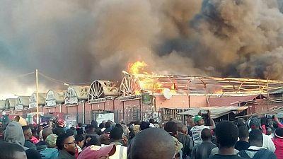 Zambia president warns economic saboteurs after market fire incident