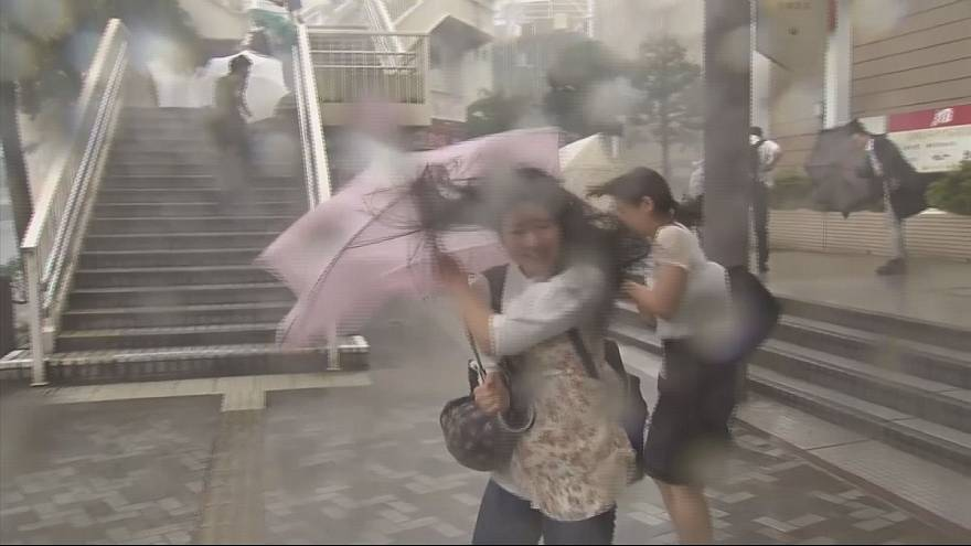 Landslides and flooding feared as Typhoon Nanmadol hits Japan