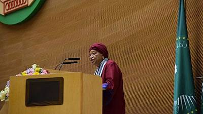 Sommet de l'UA : l'aurevoir à Ellen Johnson Sirleaf, Sassou Nguesso sur la crise libyenne... les échos d'Addis-Abeba