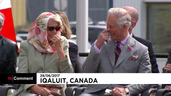 Camilla lacht in Kanada