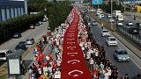 'Adalet Yürüyüşü'nde 20'nci gün geride kaldı