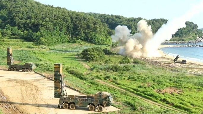 تدريبات اميركية كورية جنوبية بعد رفع كوريا الشمالية سقف تحديها بعيد المدى