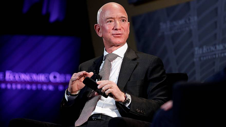 Image: Jeff Bezos, president and CEO of Amazon and owner of The Washington