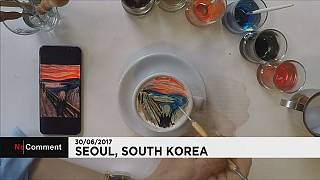 South Korean barista takes coffee art to a new level