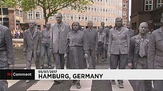 'Zombie March' hits Hamburg ahead of G20 summit